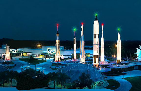 The Visitor's Center displays Imax, live rocket launch and launch sites