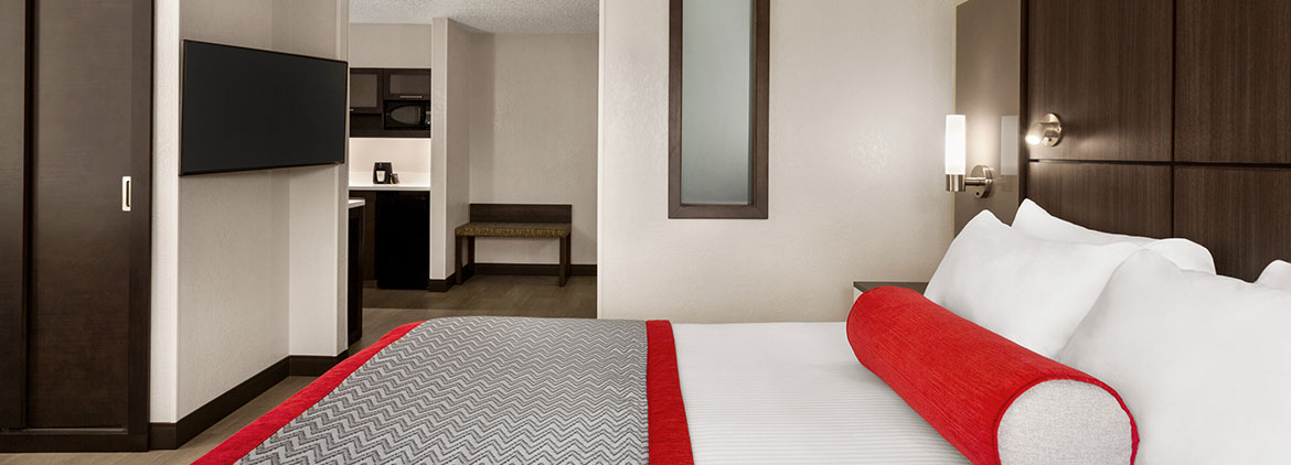 enjoy comforts of home in each spacious luxury hotel suites