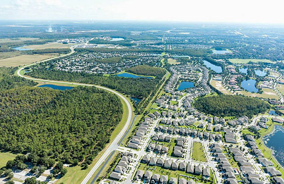 outdoor activites at Lake Nona Medical City is a 650-acre trails and park